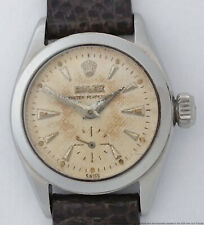 Vintage Rolex Ladies 6504 Oyster Perpetual Sub Seconds Steel Watch