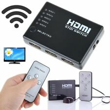 5 Port HDMI Umschalter Switch Splitter Verteiler 5In1 Out Full-HD 1080p UP