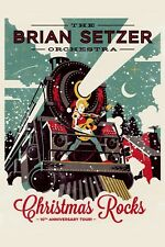 Rockabilly: The Brian Setzer Orchestra Christmas Rock & Roll Show Poster 12x18