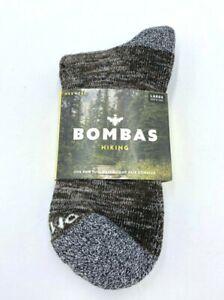 NWT Bombas Adult L Quarter Hiking Socks Tan Black Marle Cotton Blend