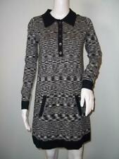 Missoni For Target Women's Space Dyed Knit Polo Sweater Dress Sz S Black/Gray