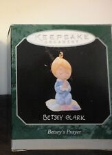 Hallmark Miniature Betsey Clark Pray Kid Ornament 1998