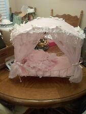 Collectible Porcelain Doll With Canopy Bed N.I.B