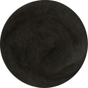 Carded Roving Wool Felting Spinning Spin Wet Craft Hand Needle VK1008 -  Black
