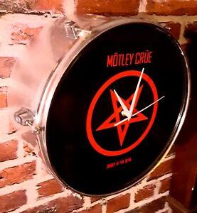 *MOTLEY CRUE* Upcycled Drum Clock