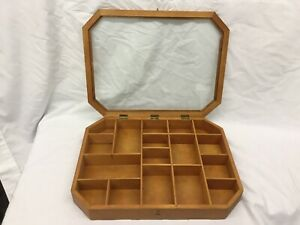 Wooden Shadow Box With Glass Lid