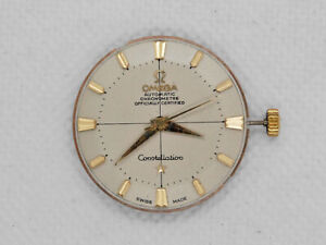 50's Omega Constellation Aut Movement 551 Pie Pan Dial for Parts or Restore