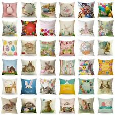 "18"" Spring Easter Bunny Egg Pillow Case Throw Cushion Cover Home Sofa Decoration"