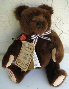 HERMANN BROWN TEDDY BEAR ORIGINAL SIGNED LIMITED EDITION 972/2000