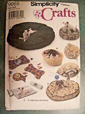 Dog & Cat Beds, Place Mats, Simplicity Crafts Pattern #9065, New