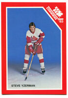 1983 Team Canada Steve Yzerman Pre Rookie Card