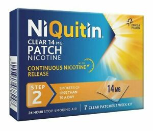 NiQuitin Clear 14mg Nicotine Patches, Step 2, 1 Week Supply