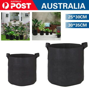 1-10Pcs Fabric Plant Pots Grow Bags with Handles 3 5 7 10 Gallon Planter Baskets