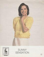 Chatelaine Crafts Sunny Sensation cardigan sweater knitting pattern - 1992