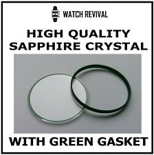 HQ SAPPHIRE CRYSTAL GLASS FOR ROLEX MILGAUSS 116400 32.70MM WITH GREEN GASKET