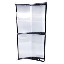 """40""""x 80"""" Window Awning Door Canopy PE Front Door Black Outdoor Patio"""