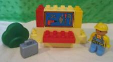 Lego Duplo 3271 The Builder Bob'S Workshop Playset-Tools Silver Suitcase Figure