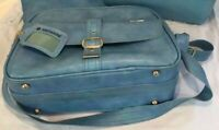 SAMONITE Blue Sherbrooke SOFT-SHELL CARRY ON LUGGAGE Travel Tote Overnight Bag