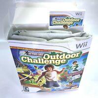 Active Life Outdoor Challenge Game w Mat Nintendo Wii 2008 Fitness Body Movement