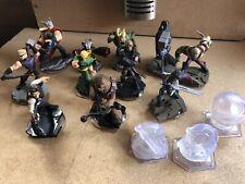 Disney Infinity figures bundle Joblot 11 figures & crystals Marvel and Star Wars