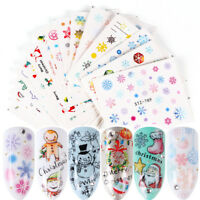 3 Sheets Nail Art Transfer Stickers DIY 3D Design Manicure Tips Decal Decor.