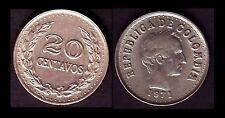 ★★ COLOMBIE / COLOMBIA ● 20 CENTAVOS 1971 ● E8 ★★