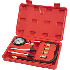 Petrol engine compression tester kit test cylinder car motorcycles with adaptors