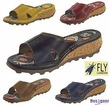 Fly London Ladies Kert 740 Luxury Rug Leather Open Toe Mule Summer Sandals
