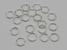600Pcs Silver Plated Open Jump Ring 8X1mm Circle Connector Jewelry Making