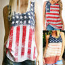 2017 Womens Summer Vest T Shirt Ladies Sleeveless Tank Tops American Flag Blouse