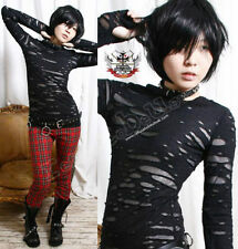 RTBU Gothic Punk Rocker Distressed Broken Mummy Raggedy Sheer Thumb Hole Mitten