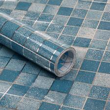 Waterproof Self-adhesive Wallpaper Blue Mosaic Kitchen Oil-proof Stickers Vinyl