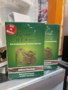 Lot of 2 Reshma HENNA Conditioning Semi-Permanent Hair Color / Natural Chestnut