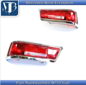 Mercedes-Benz W113 Pagode 230SL 250SL Early Pair Rear Lights Red/Red