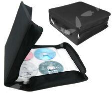 320 Pcs Disc CD DVD VCD Holder Storage Media Carry Wallet Album Bag Case Black