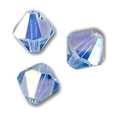 10 Perles Toupies 3mm cristal Swarovski - LIGHT SAPPHIRE AB