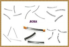 Eo0068 Spacer Tube Perlen silber v. Größen und Formen Röhrchen Rohr*