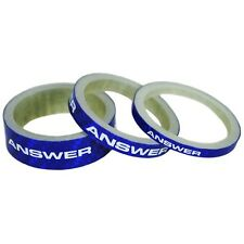 """Answer Carbon Headset Spacers 3 Pack 1""""1/8th Blue"""