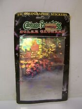 NEW IN PKG Cabbage Patch Kids Solar Glowers 3-D Holographic Stickers on Card