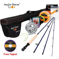 Fly Fishing Combo 3/5WT Fly Rod and Reel Combo Aluninum Fly Reel and Line Kit