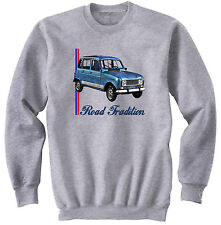 RENAULT 4L INSPIRED - NEW COTTON GREY SWEATSHIRT ALL SIZES IN STOCK