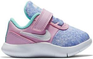 Nike Flex Contact (TDV) AV8564-400 Pink Purple White Baby Toddler Girl's Shoes