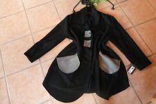 MEXXOO Jacke Mantel 46 48 50 EG NEU! schwarz 80 % Wolle Detail Stretch LAGENLOOK