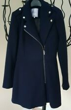 Zara Blue Wool Coat  XS New
