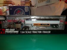 Ertl Die Cast Promotions Purple/Silver Peterbilt W/Wilson Hopper Grain Trailer