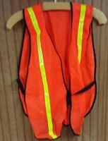 Reflective Safety Mesh Vest w/2 reflective strips #V211R