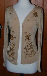 Kaliko, Ladies, Golden,Embroidered, Casual, Party, Cardigan, Cardi, size 12