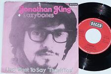 """JONATHAN KING -Lazybones- 7"""" 45"""