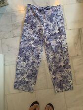 Lauren Ralph Lauren Pjs Pajamas Small Floral Blue White  Flowers