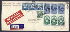 1960 US Advertising Cover, Des Moines Architects w/ Multiple Airmail Etiquettes*